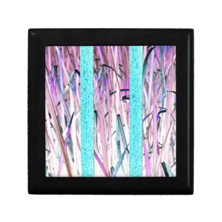 Pink Blue Girly Nature Art Jewelry Boxes