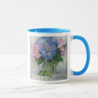 """Pink, Blue, & Glass"" Mug"