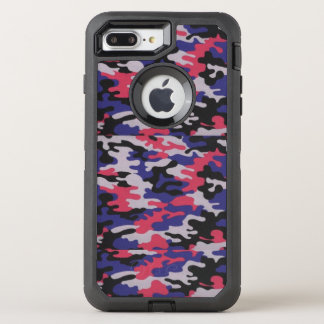Pink, Blue & Gray Camo, Otterbox Case