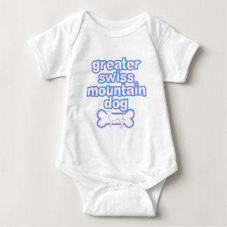 Pink & Blue Greater Swiss Mountain Dog Tshirts