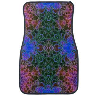 Pink Blue Green Abstract Floor Mat