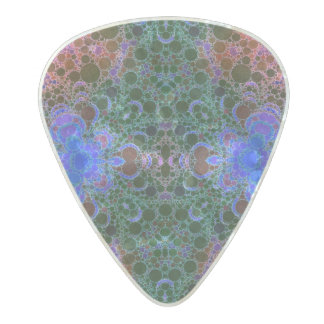 Pink Blue Green Abstract Pearl Celluloid Guitar Pick