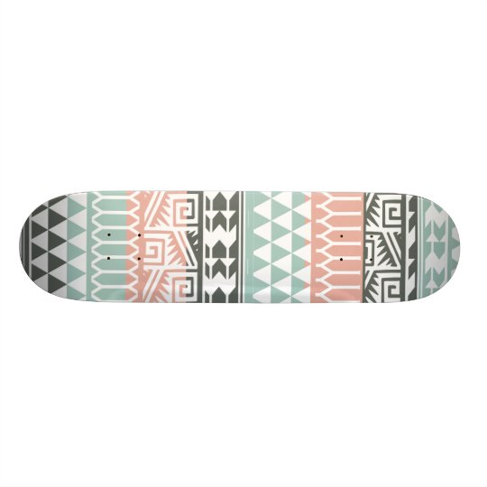 Pink Blue Grey Abstract Aztec Tribal Print Pattern