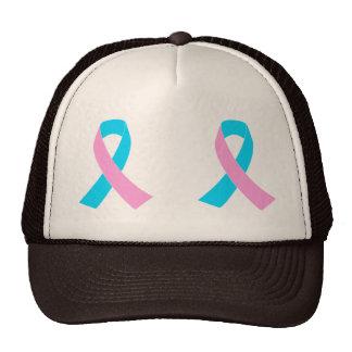 Pink & Blue - Infertility Awareness Ribbon Cap