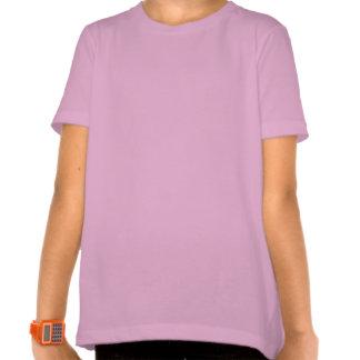 Pink & Blue Keeshond Girl's Ringer T-Shirt