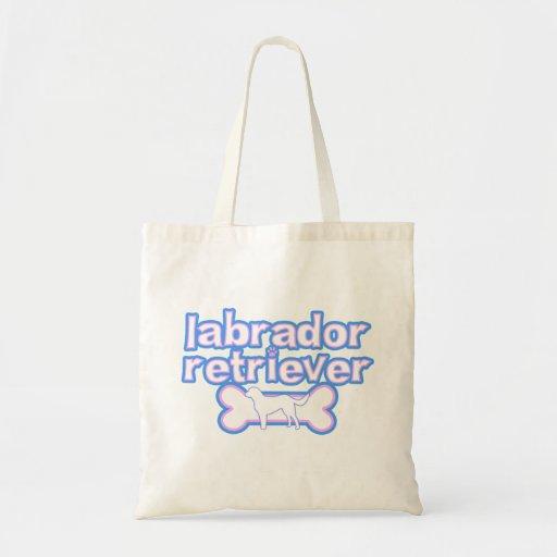 Pink & Blue Labrador Retriever Bag