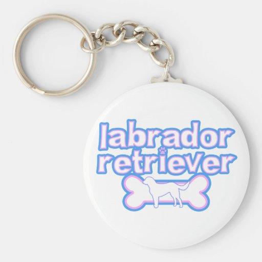 Pink & Blue Labrador Retriever Keychain