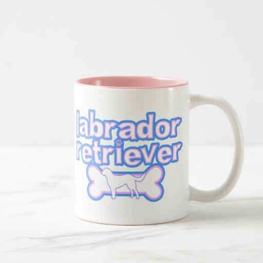 Pink & Blue Labrador Retriever Mug
