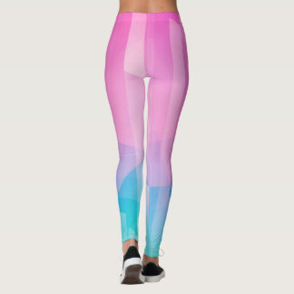 Pink blue leggings