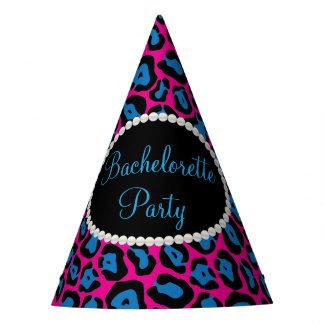 Pink/Blue Leopard Print Pearls, Bachelorette Hats