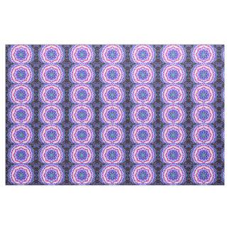pink blue mandala pattern fabric
