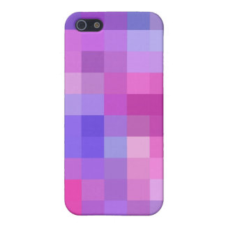 Pink Blue Mauve and Purple Chequered Pattern iPhone 5 Cover