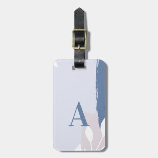 Pink & Blue Modern Abstract Luggage Luggage Tag