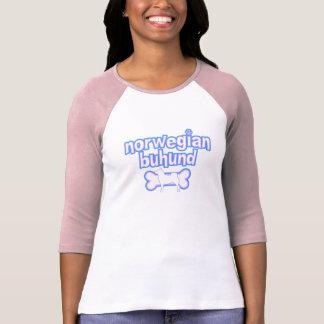 Pink & Blue Norwegian Buhund T-shirts