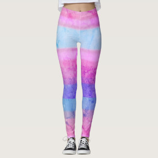 Pink Blue Paint Concrete Stone Lines Graffiti Leggings