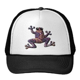 Pink Blue Paisley Climbing Frog Hat