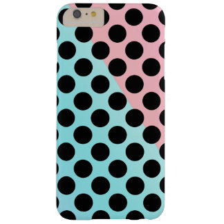 Pink blue pastel polka dot pattern barely there iPhone 6 plus case