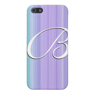 Pink blue pern monogram customizable cases for iPhone 5