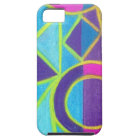 Pink Blue Purple Abstract Art Geometric Design Case For The iPhone 5