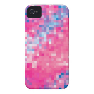 Pink Blue Purple Abstract Mosaic Squares Pattern Case-Mate iPhone 4 Case