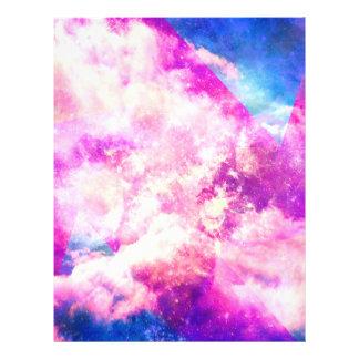 Pink Blue  Purple Nebula Dreamy Clouds 21.5 Cm X 28 Cm Flyer