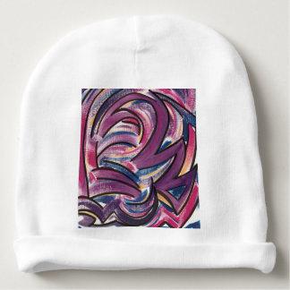 Pink, Blue, Purple, Yellow Brushstrokes-Modern Art Baby Beanie