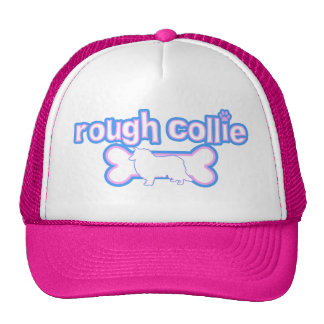 Pink & Blue Rough Collie Hat