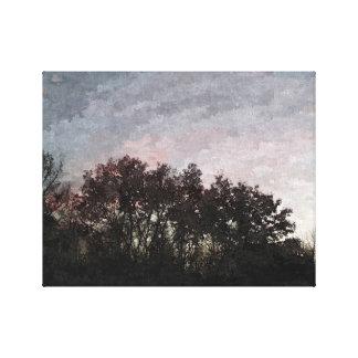 Pink & Blue Sky Canvas Print