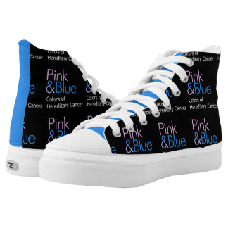 Pink & Blue sneakers! High Tops
