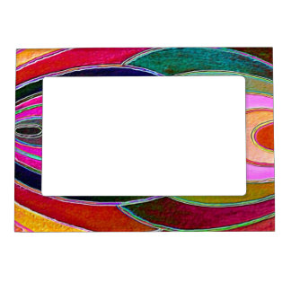 Pink blue Spirals Magnet Photo Frame Magnetic Photo Frame