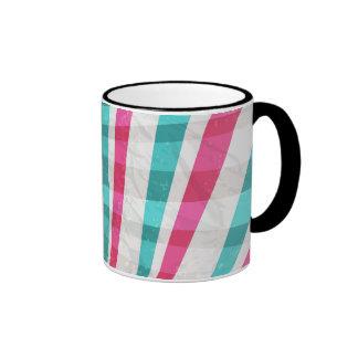 Pink & Blue Starburst Design Mug