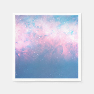 Pink & Blue Starry Sky Cosmic Galaxy Sky Celestial Disposable Napkin