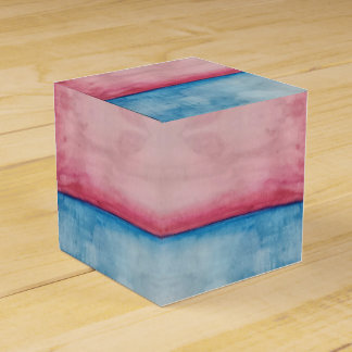 pink blue stripe gift box