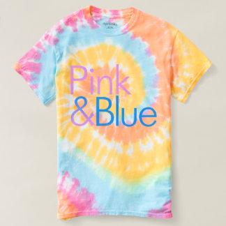 Pink & Blue Tie-Dye T-shirt