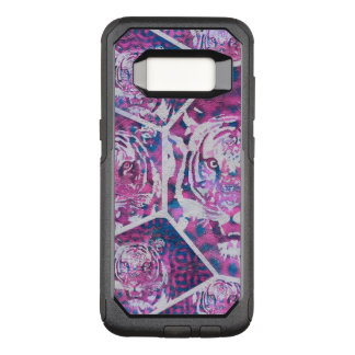 Pink Blue Tiger Collage OtterBox Commuter Samsung Galaxy S8 Case