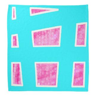 Pink/Blue Unique Geometric Pattern Bandana