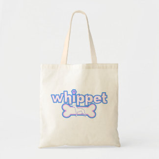 Pink & Blue Whippet Tote Bag
