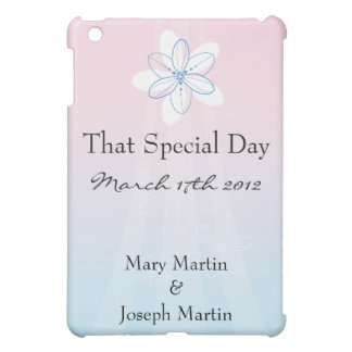 Pink Blue with Flowers Case For The iPad Mini