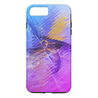 Pink Blue Yellow Abstract Fractal iPhone 8 Plus/7 Plus Case