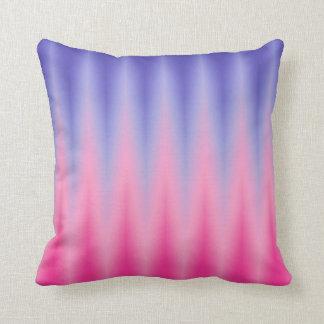 Pink Blue ZigZag Ikat Print Cushions