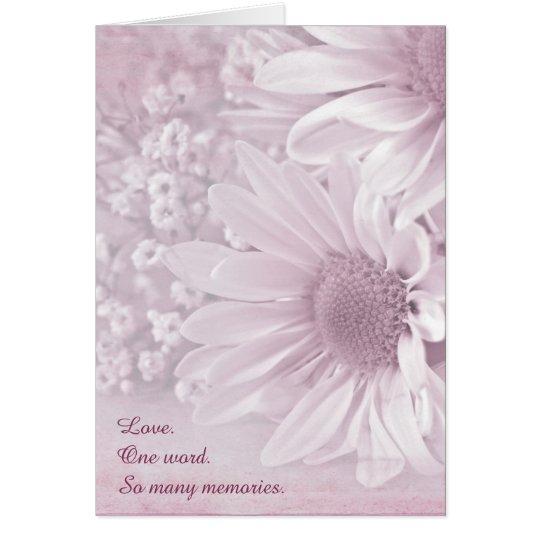 Pink Blush Daisy bouquet Card