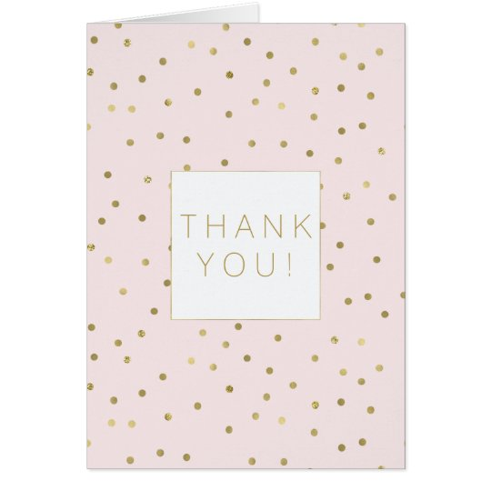 Pink Blush Gold Sparkle Confetti Stylish thank you