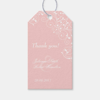 Pink Blush Vintage Wedding Thank You Favor Gift Tags