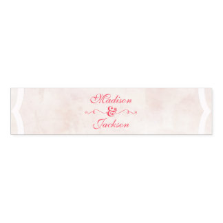 Pink & Blush Watercolor Script Wedding Monogram Napkin Band