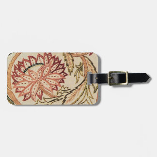 Pink Bohemian Flowers Luggage Tag