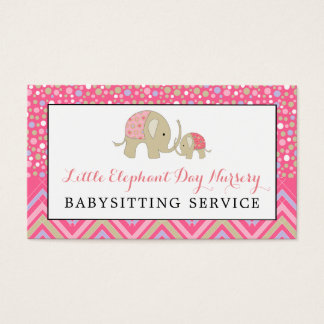 Pink Babysitting Business Cards Business Card Printing Zazzle