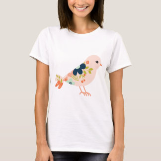 Pink Boho Tribal Bird T-Shirt