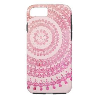 Pink Boho Tribal Folk Nature Gypsy Circle Hippy iPhone 8/7 Case