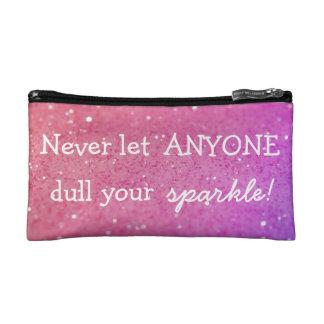 Pink Bokeh Sparkle Make Up Bag Cosmetics Bags