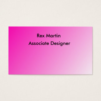 Pink bold colour business cards
